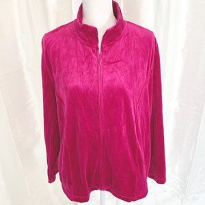 NWT  GORGEOUS   KIM ROGERS   ZIP FRONT TOP  XLARGE